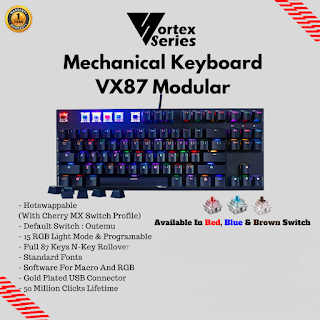 keyboard gaming mechanical terbaik vortex vx87