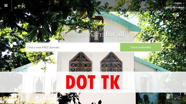 Get a Free Domain Name (Dot.tk)