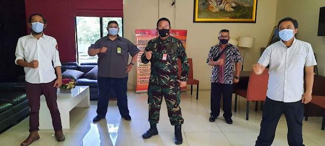Pengurus Jurnalis Bela Negara Kunjungi Marsda TNI I Nyoman Trisantosa di Mabes TNI Cilangkap