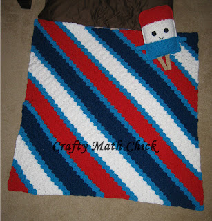 C2C Patriotic blanket by Crafty Math Chick