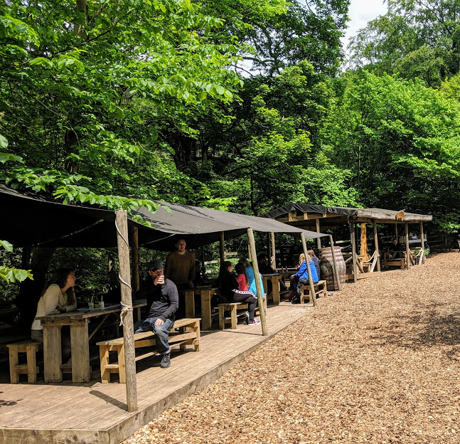 Falling Foss Tea Garden (near Whitby) - covered seating area