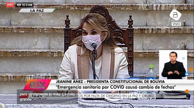 Doria Medina: la presidenta Áñez en ocho meses pacificó el país y ahora enfrenta la pandemia