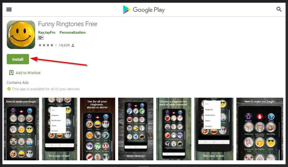 apliksai funny ringtone gratis di android