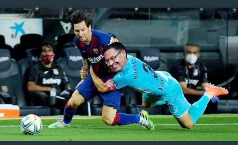 festín de memes por voltereta de Messi