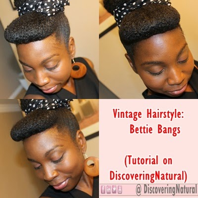 Discoveringnatural Vintage Bang On Natural Hair Bettie Bang