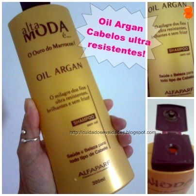 Shampoo Oil Argan Alta Moda