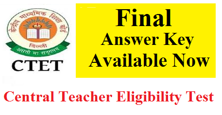 CTET 2019 Final Answer Key Released