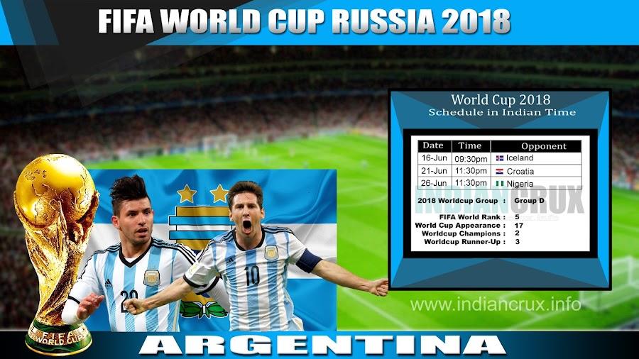 FIFA 2018 Schedule Argentina JPEG File