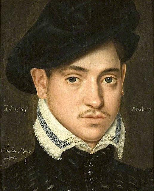 Cornelis de Zeeuw (actif entre 1540 et 1570) Portrait d'un jeune homme, 1565 Huile sur panneau de bois, 25.6 x 21.2 cm Bristol City Museum Art Gallery