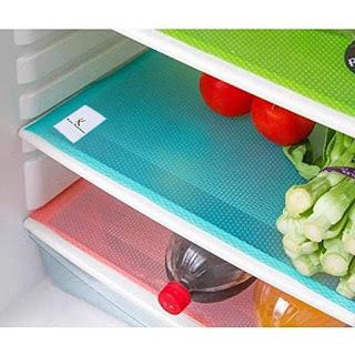 LOOMANTHA & Kuber Industries PVC 6 Piece Refrigerator Drawer Mat Set - Multicolour - online Trade DD