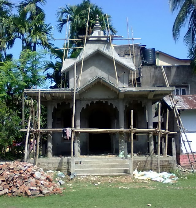 Ongoing construction work of IPUTHOU THONGNANG TEMPLE at lakhipur khuman