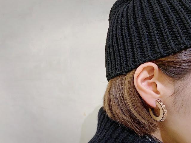 KINARIYA【キナリヤ】Fabric Line / pierced earrings◆八十八/丸亀香川県・eighty88eight/新居浜愛媛県 エイティエイト