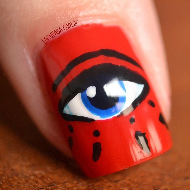 Nail art - Kenzo eye
