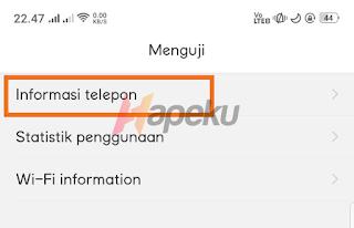 Informasi telepon