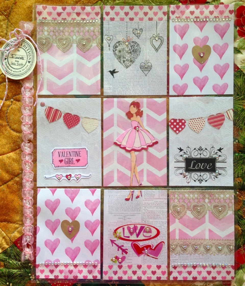 Aunty Vera Scrap and Craft Prima Doll Pocket Letters with a Touch