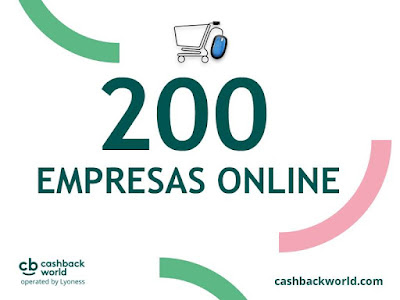 Cashback World - portugalsko, 200 online obchodů