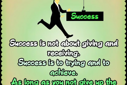 You not give up the effort   Success Quote In English