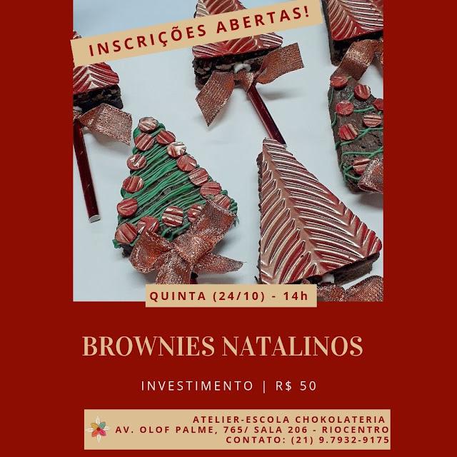 Brownies Natalinos  Outubro 2019