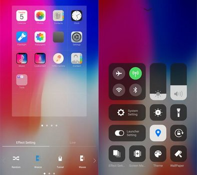 iLauncher iPhone X - iOS 11 Launcher