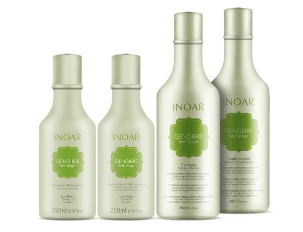 Shampoo e condicionador Inoar Gengibre shampoo refrescante cabelos oleosos