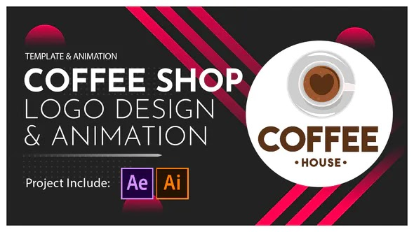 Videohive - Coffee Shop Logo Design and Animation - 28601763