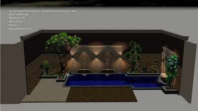 Jasa tukang taman minimalis halaman belakang rumah surabaya | jasataman co id