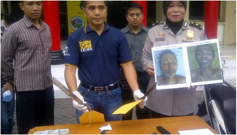 Barang bukti dan foto pelaku curanmor dipamerkan di Mapolresta Surabaya