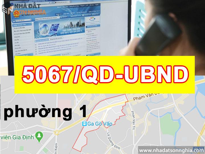 Quyết định số 5067/QĐ-UBND