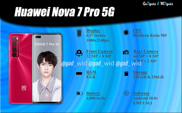 gadgets and widgets, gadnwid, gadwid, smartphone, huawei nova 7 pro specifications, huawei nova 7, huawei, huawei nova, huawei nova 7 pro, huawei nova 7 pro price in nepal