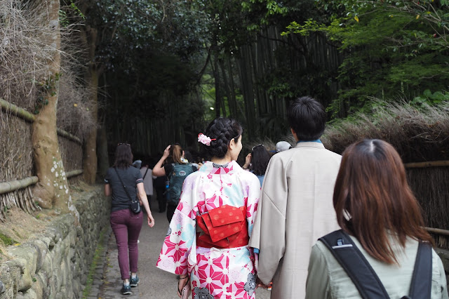 Arashiyama bamboo forest kimono rental
