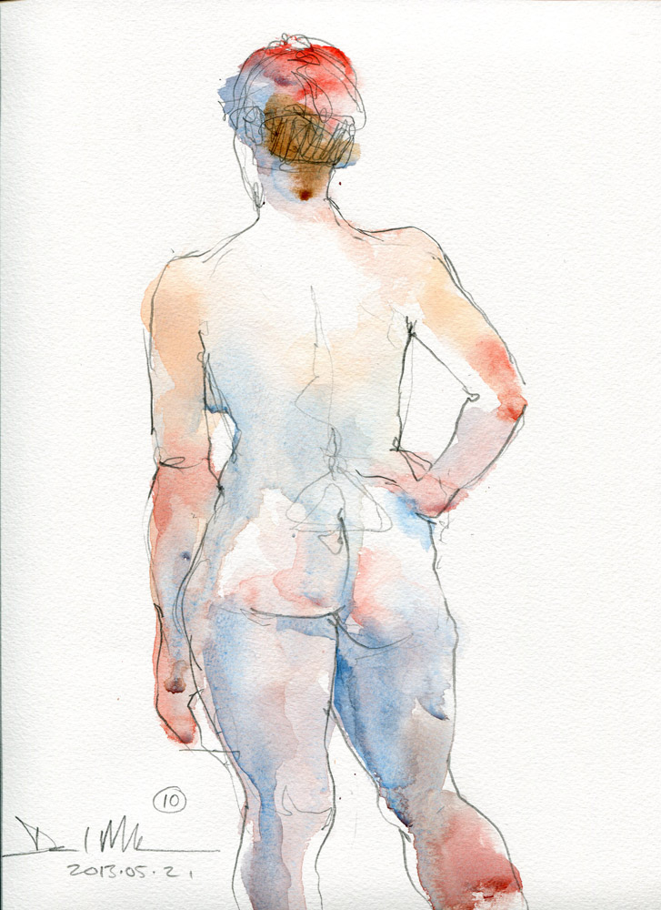 10 minute watercolour sketch. 20130521 by David Meldrum