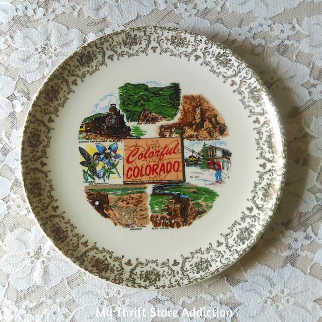 vintage Colorado state souvenir plate