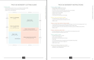 Stampin' Up! Pick 6 Wonder Template & Instructions ~ FREE PDF Download