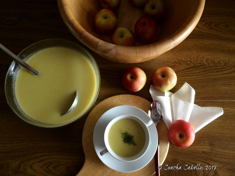 crema-manzana-mesa