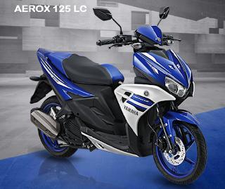 Harga motor Yamaha Aerox 125 LC baru