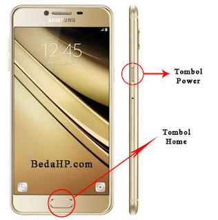 Cara Screenshot HP Samsung Galaxy C7