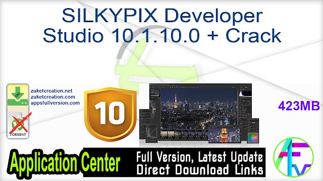 SILKYPIX Developer Studio 10.1.10.0 + Crack