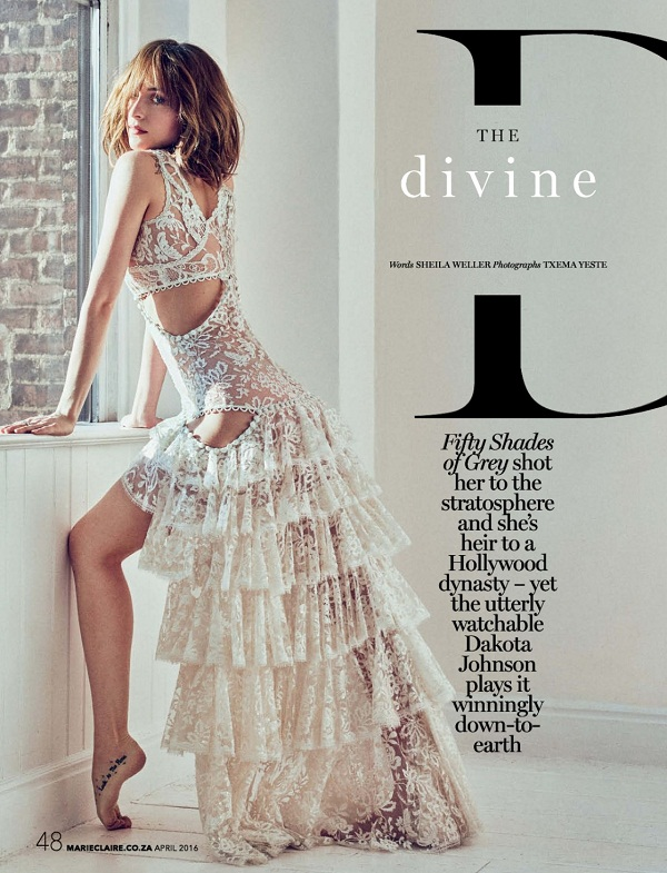 Dakota Johnson Marie Claire Photo shoot