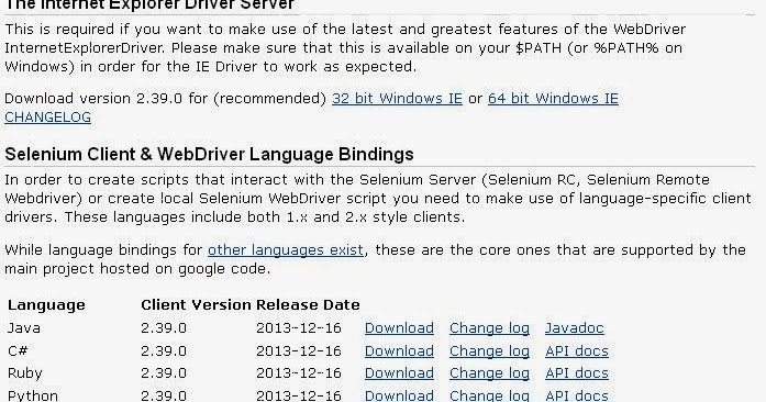 Starting With Selenium WebDriver: Internet Explorer Configuration