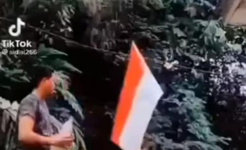 pembakar bendera merah putih orang aceh