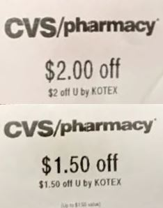 kotex cvs crt coupons