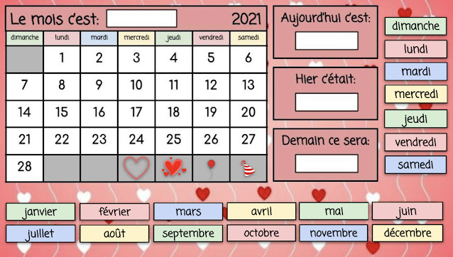calendrier interactif - février