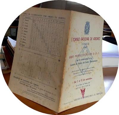 Páginas 1 y 18 del Boletín del I Torneo Nacional de Ajedrez de Tortosa 1948