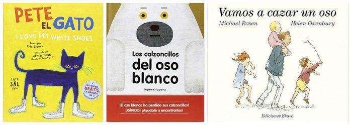 mejores cuentos y libros infantiles del 2016, pete el gato, calzoncillos oso, vamos a cazar