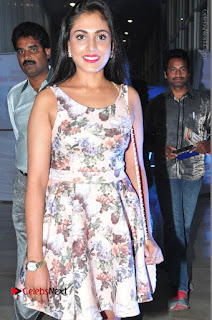 Actress Madhu Shalini Stills in Floral Short Dress at RGV Shiva to Vangaveeti Event  0075.JPG