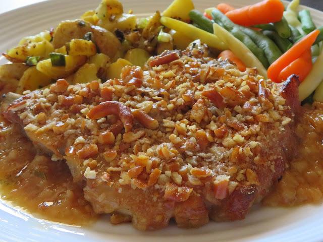 Pretzel Baked Pork Chops