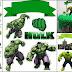 Hulk: Toppers para Tartas, Tortas, Pasteles, Bizcochos o Cakes para Imprimir Gratis.