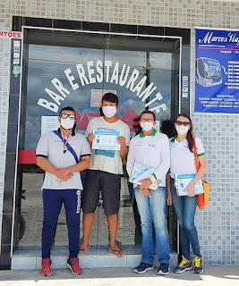 Coronavírus: Vigilância sanitária realiza ação preventiva em comércios de Baraúna