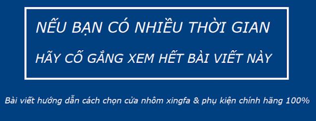 Giá Cửa nhôm xingfa tại Sóc Sơn Hà Nội