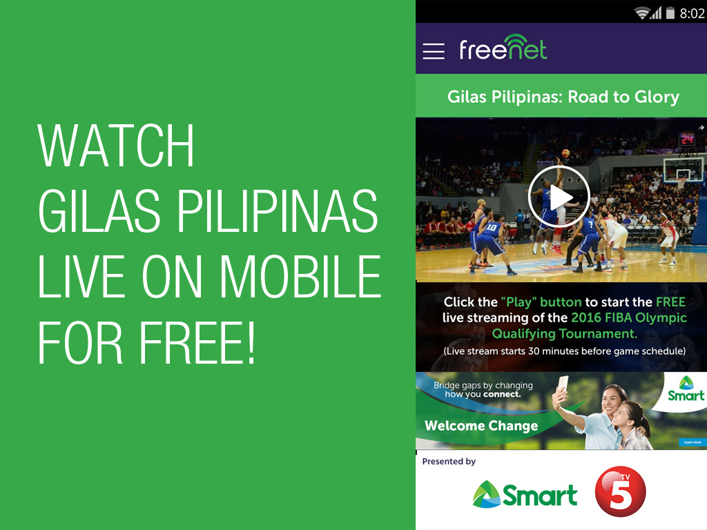 Watch Gilas Pilipinas games live on mobile for FREE